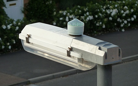 Street light with photocell